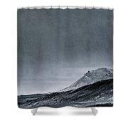 Land Shapes 6 Shower Curtain by Priska Wettstein
