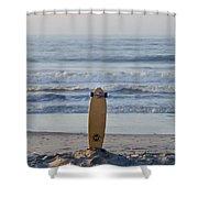 Land Surf Board Shower Curtain