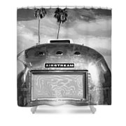 Land Yacht Bw Palm Springs Shower Curtain