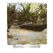Kayak On Beach Shower Curtain