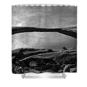 Landscape Arch Panoramic Shower Curtain