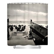 Landing At Normandy On D-day Shower Curtain