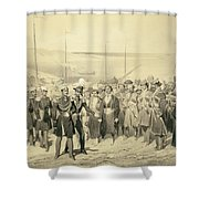 Landing Of A Military Leader Shower Curtain