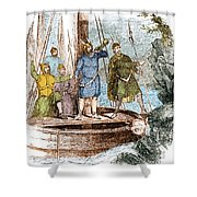 Landing Of The Vikings In The Americas Shower Curtain