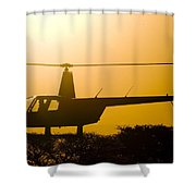 Landing On A Tree Shower Curtain