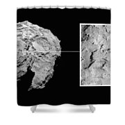 Landing Site On Comet 67pc-g In Context Shower Curtain