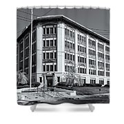 Landmark Life Savers Building II Shower Curtain by Clarence Holmes