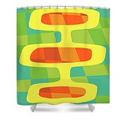 Abstract Pods Shower Curtain