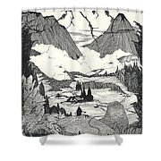 Landors Cottage Shower Curtain