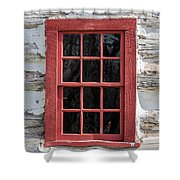 Landow Cabin Window Shower Curtain