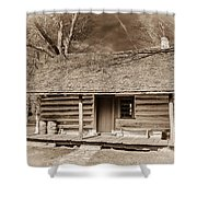 Landow Log Cabin 7d01723b Shower Curtain