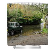 Landrover And The Ford  Shower Curtain