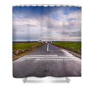Lands End Start And Finish Line Shower Curtain