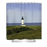 Landscape At Yaquina Lighthouse Shower Curtain