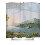 Landscape Along The Rhine Shower Curtain