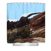 Landscape Arch In Arches National Park Shower Curtain