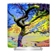 Landscape Art Tree Life Shower Curtain