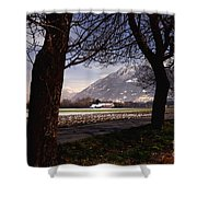 Landscape At Night Shower Curtain