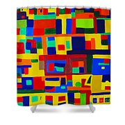 Landscape Buildings Shower Curtain