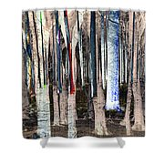 Landscape Forest Trees Shower Curtain