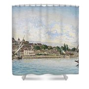 Landscape From Lake Leman To Nyon Shower Curtain