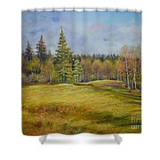 Landscape From Pyhajarvi Shower Curtain