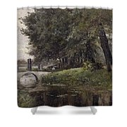 Landscape In Nijmegen. Netherlands Shower Curtain