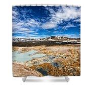 Landscape In North Iceland Leirhnjukur Shower Curtain by Matthias Hauser