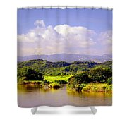 Landscape In Puerto Rico. Shower Curtain