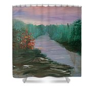 River Dreamscape Shower Curtain