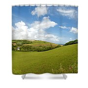 Landscape Near Hallsands In Devon Gb Shower Curtain