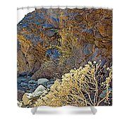 Landscape Of Big Painted Canyon Trail In Mecca Hills-ca Shower Curtain