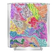 Landscape Of Color Shower Curtain