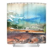Landscape Of Lanzarote 05 Shower Curtain