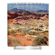 Landscape Of Valley Of Fire State Park Shower Curtain