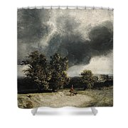 Landscape On The Outskirts Of Paris Shower Curtain