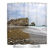 Seascape  Paphos Cyprus Shower Curtain