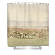 Landscape, Possibly Framlingham, Suffolk Shower Curtain