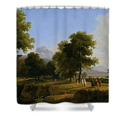 Landscape. Site Of Greece Shower Curtain