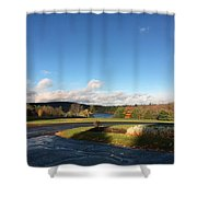 Landscape Skyview Early Morning Poconos Pa Usa America Travel Tour Vacation Peaceful Shower Curtain