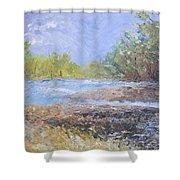 Landscape Whit River Shower Curtain