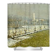 Landscape. Winter Sun Shower Curtain