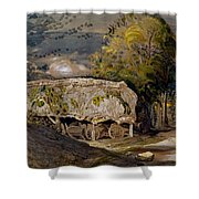 Landscape With A Barn, Shoreham, Kent Shower Curtain