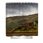 Landscape With A Castle On A Hill And A Shower Curtain