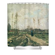 Landscape With A Church And Houses Shower Curtain