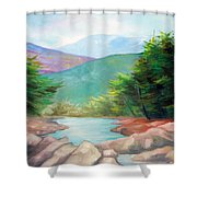 Landscape With A Creek Shower Curtain
