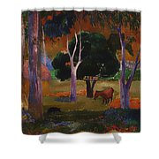 Landscape With A Pig And Horse Shower Curtain
