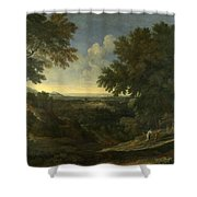 Landscape With Abraham And Isaac Shower Curtain
