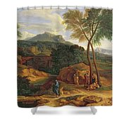 Landscape With Conopion Carrying Shower Curtain