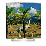 Landscape With Dinosaurs Shower Curtain